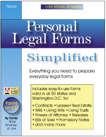 Personal Legal Forms Simplified - Book With CD-ROM